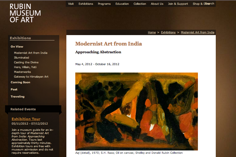 Approaching Abstraction at the Rubin Museum of Art, New York