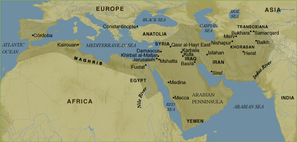 Islamic Caliphate Map Caliphate Map Umayyad