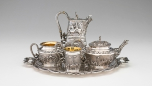 Five Piece Tea Service, P. Orr & Sons, Madras, 1876