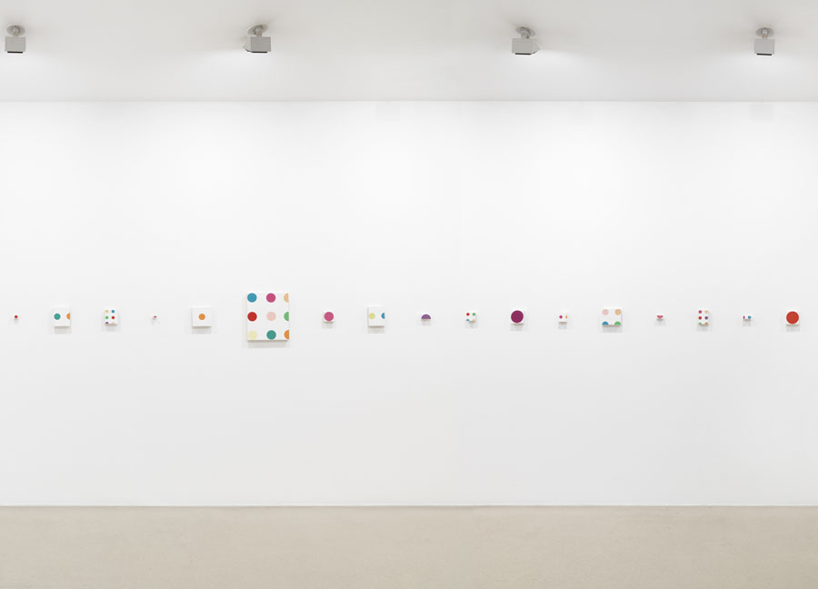 Damien Hirst, Installation view at Gagosian Gallery, London.