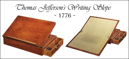 Thomas Jefferson's Desk-1776