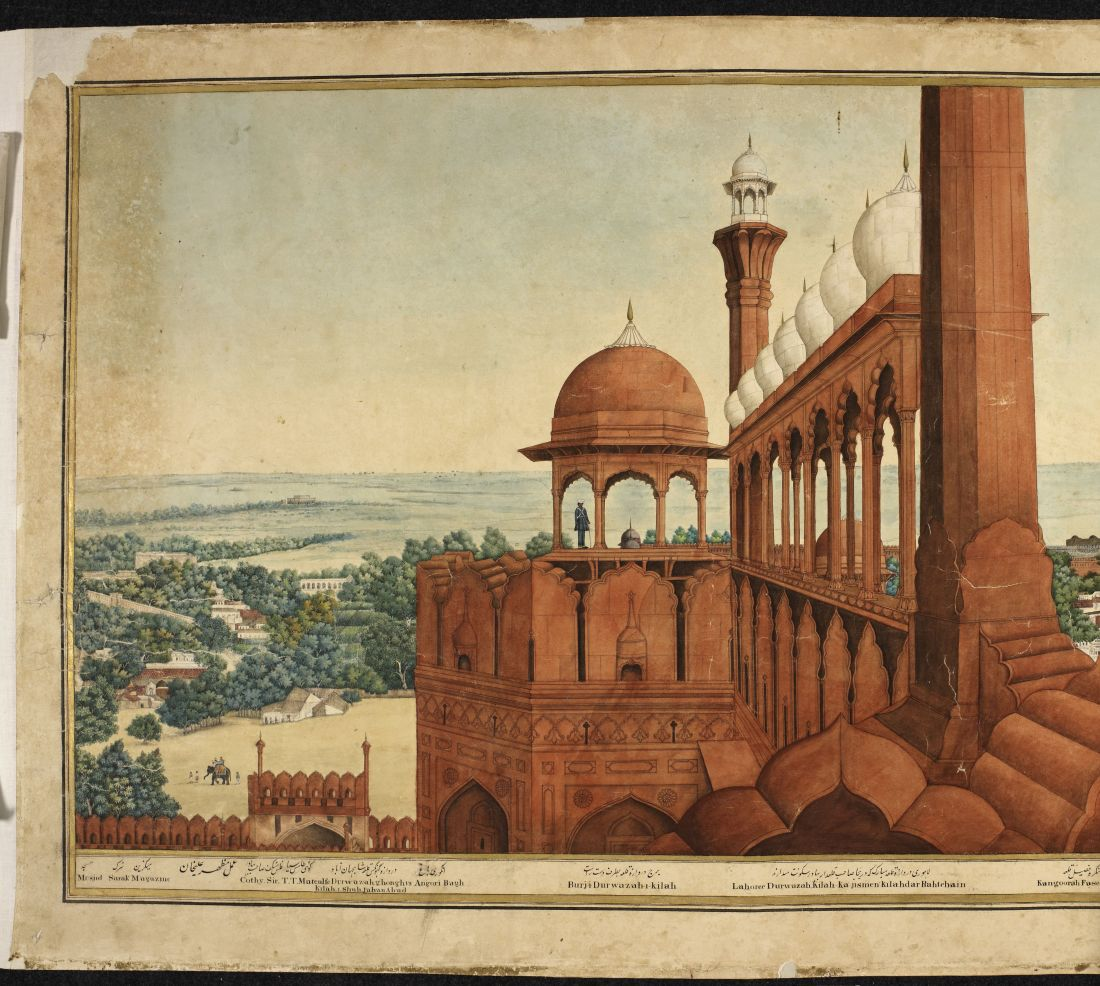 A Panorama of Delhi by Mazhar 'Ali Khan. Image Credit: © The British Library Board