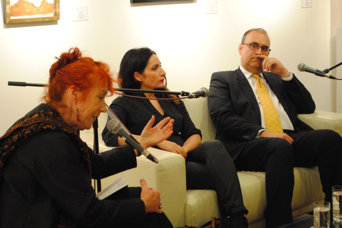 Panel, from left: Dr Virginia Whiles, Faiza Butt and Kamran Anwar