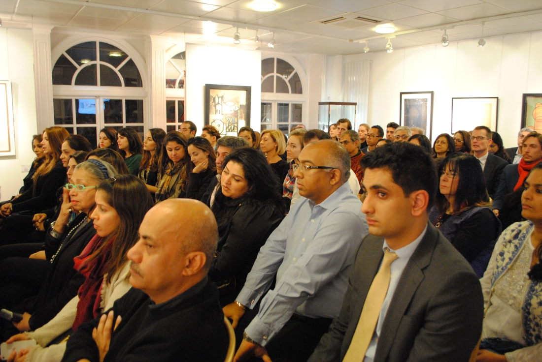 A packed house at Saffronart, London