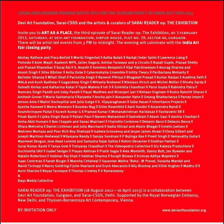 Devi Art Foundation - Sarai Reader