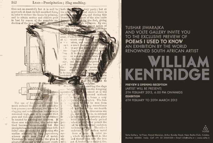 William Kentrdige @ Volte Gallery