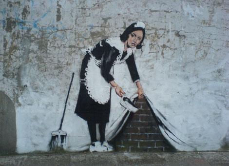 Banksy Maid, London, Courtesy BBC