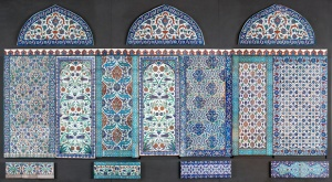 Ottoman ceramic wall, Turkey, c. 1560–80Image credit: Raphaël Chipault /Musée du Louvre