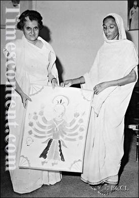 Sita Devi with Indira Gandhi