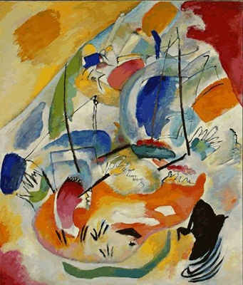 "Wassily Kandinsky, ""Improvisation 31 (Sea Battle),"" 1913Image credit: www.ngma.gov"