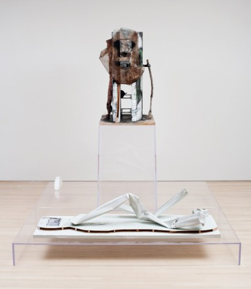 Huma Bhabha, Thot and Scribe, 2012, Mixed Media. Courtesy: The Artist and Salon 94. Image credit: MoMA PS1