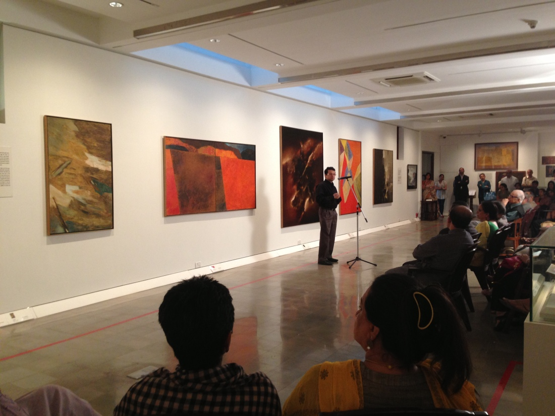 """A view of the Jehangir Nicholson Gallery at the opening of Nothing is Absolute"""