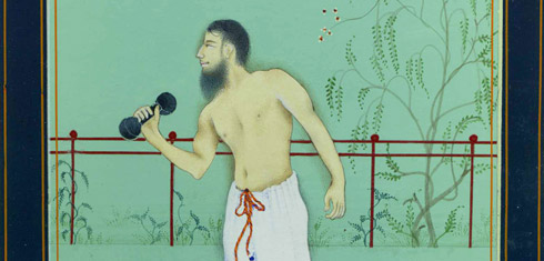 Imran Qureshi, Moderate Enlightenment (detail), 2007. Gouache on paper, 9 x 7 inches. Photo: Courtesy Aicon Gallery, New York. Image credit: Guggenheim Museum