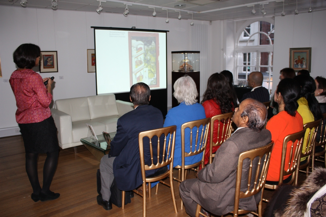 Dr Malini Roy and a packed house at Saffronart, London