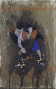Untitled 1, Rustam Series, 2011–12. Watercolor, gouache, and ink on paper, 27 1/2 × 19 5/8 inches (69.9 × 49.8 cm). Solomon R. Guggenheim Museum, New York Guggenheim UBS MAP Purchase Fund, 2012 2012.143. © Khadim Ali