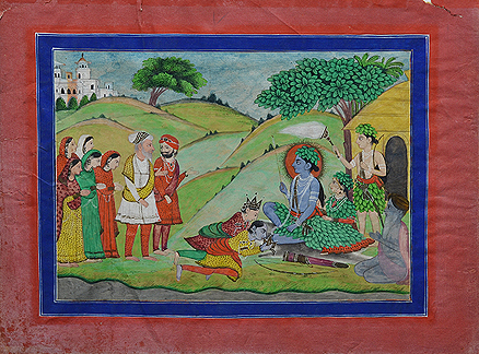 Lot 15, Rama, Sita, and Lakshman worshiped by a Sikh Ruler, Punjab Hills