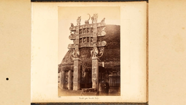 A view of the North Gate of the Great Stupa at Sanchi, Raja Deen Dayal