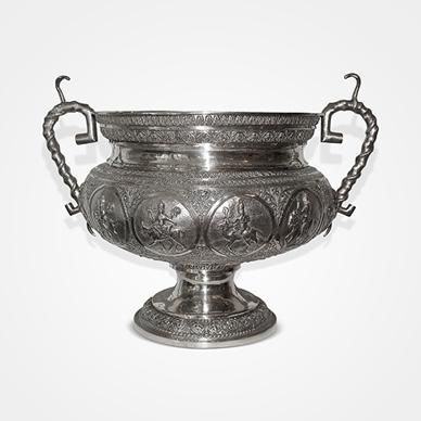 Madras Silver Large Two-handled Vase c.1890. http://www.saffronart.com/fixedjewelry/PieceDetails.aspx?iid=36007&a=