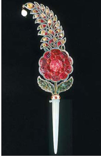 Turban Ornament, Mughal Court, 1700-1750; Image Credit; http://www.chinadaily.com.cn/cndy/2013-06/14/content_16618619.htm