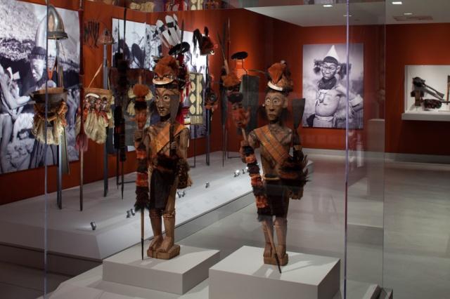 "Installation shot of ""Fiercely Modern: Art of the Naga Warrior"" by David DeArmasI"