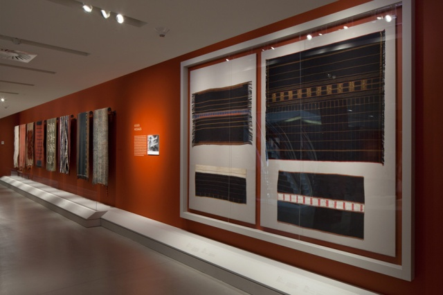 "Installation Shot of ""Fiercely Modern: Art of the Naga Warrior"" by David DeArmas"