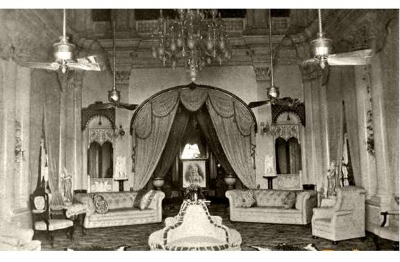 One of the rooms at Wasef Manzil or the New Palace, built by Wasef Ali Mirza in Murshidabad