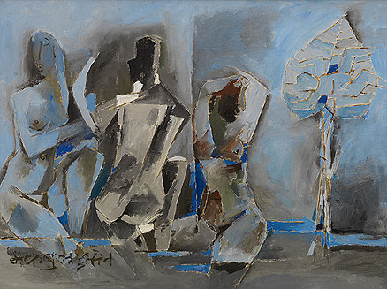 Untitled, M.F. Husain