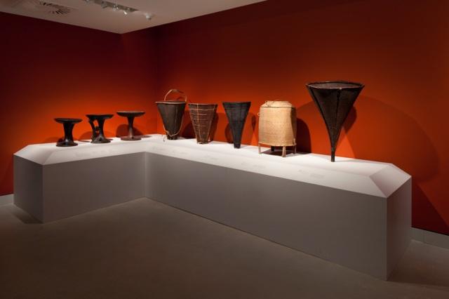 "Installation Shot of ""Fiercelyt Modern: Art of the Naga Warrior"" by David DeArmas"