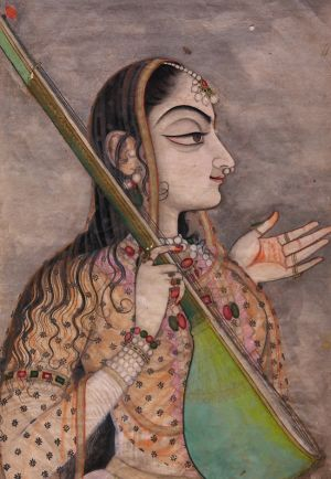 A Lady Singing, Kishangarh, c.1740, From the Collection of Howard Hodgkin