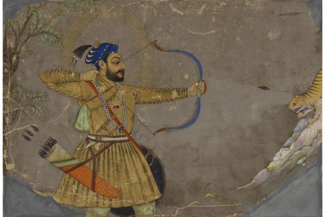 Sultan Ali Adil Shah Hunting a Tiger, Bijapur, Deccan, c.1660