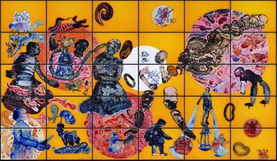 Cassandra 30 panel polyptych, 2009, Nalini Malani. Image Credit: http://www.artslant.com/ny/works/show/361985