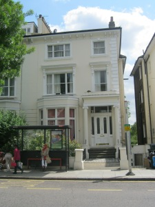 The house in Belsize Square where Souza and Lisolette lived, as it is today.