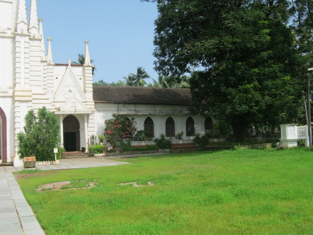 The Church where Souza was baptised in Saligao