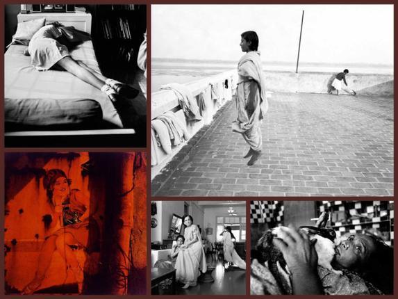 Dayanita Singh, (From top left) Go Away Closer; I Am As I Am; Myself Mona Ahmed; Ladies of Calcutta; Dream Villa