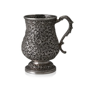 """You're Welcome,"" says the Baluster Silver Mug, spawn of Oomersi Mawji (Lot 102) Image Credit: http://www.saffronart.com/customauctions/PreWork.aspx?l=9236"