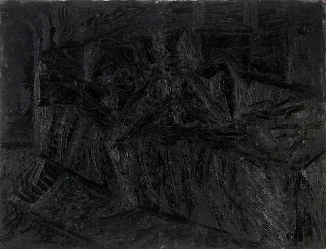 Lovers, 1965, F. N. Souza. Image Credit: http://grosvenorgallery.com/art-fairs/current-art-fairs/frieze-masters/