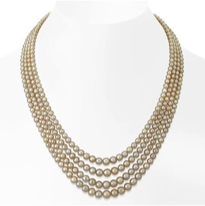Lot 46, A Majestic four-line natural pearl necklace. Image Credit: http://www.saffronart.com/customauctions/PreWork.aspx?l=9180)