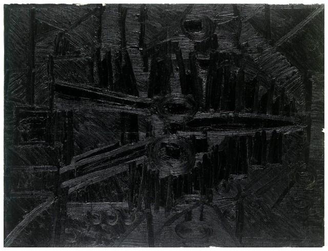 Untitled (Landscape), 1965, F. N. Souza. Image Credit: http://grosvenorgallery.com/art-fairs/current-art-fairs/frieze-masters/