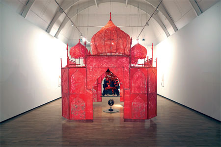 Take me, take me, take me to the Palace of Love, 2003, Rina Banerjee. Image Credit: http://www.artindiamag.com/quarter_03_03_13/now_voyager.html
