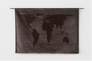 Mona Hatoum Projection (velvet), 2013 Silk velvet and mild steel 97 x 162 cm Read more at http://www.fiac.com/galeries/white_cube#Fqzvh35lpBO6mfFu.99