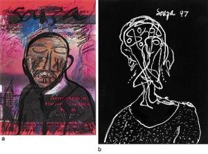 FRANCIS NEWTON SOUZA | Untitled | a) c.1965 b) 1997