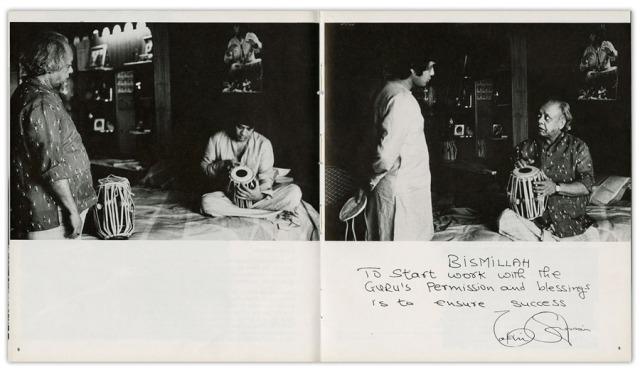 Zakir Hussain, 1986, Dayanita Singh. Image Credit: http://www.dayanitasingh.com/zakir-hussain