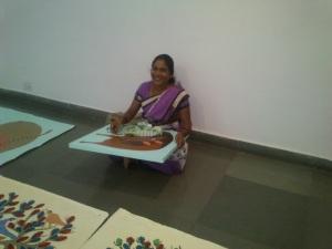 Nankusia Shyam Painting http://indianartscene.blogspot.in/2013/08/jangarh-singh-shyams-legacy-gond-art.html