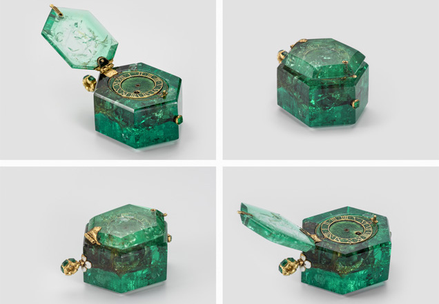 Watch|Colombian emerald crystal|1600 circa