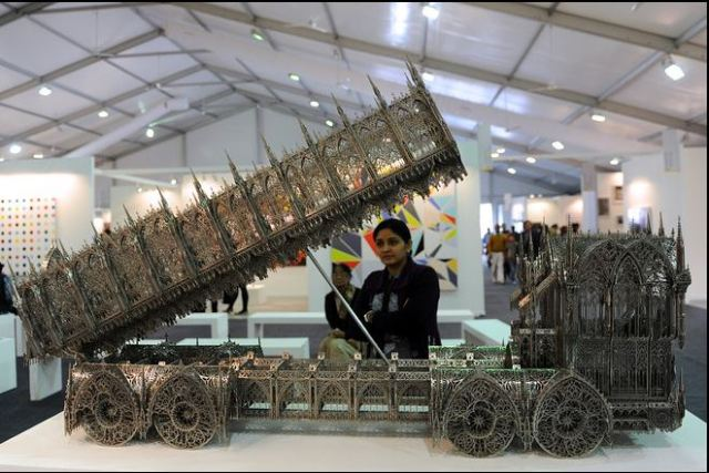 Belgian artist Wim Delvoye's classy Dump Truck at the India Art Fair 2012 would make a fabulous addition to our roads. Source: http://online.wsj.com/news/articles/SB10001424052970204661604577186010199340638#5