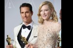 """Oscar winners Matthew McConaughey, who won the lead actor award for Dallas Buyers Club, and Cate Blanchett, who won the lead actress award for Blue Jasmine, both wore Chopard to the event."""