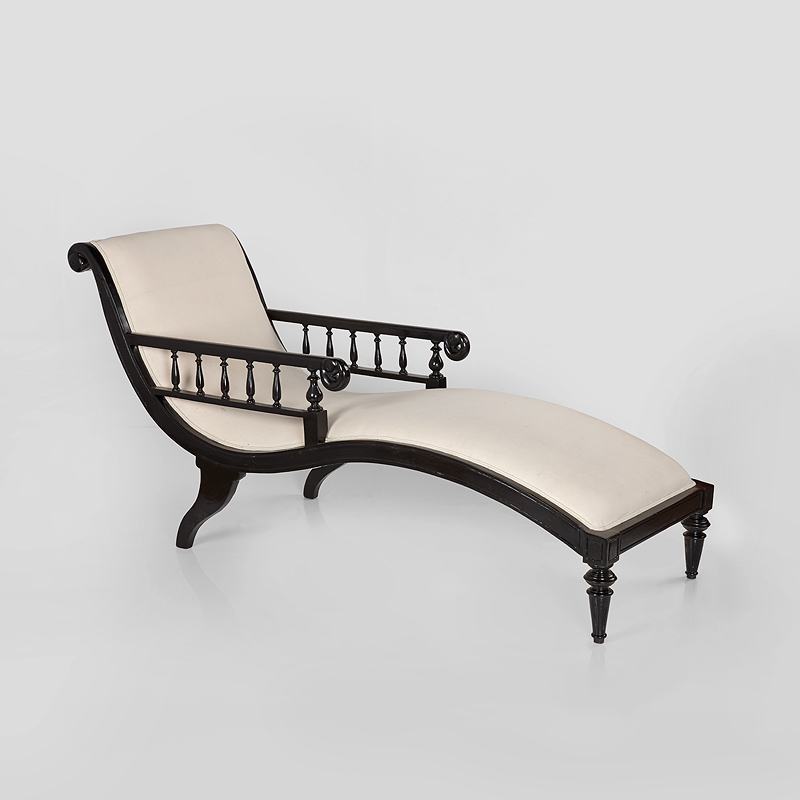 Luxury Relaxation, An Ebony Chaise Lounge, Featuring in the Elegant Design, Saffronart 25-26 March 2014