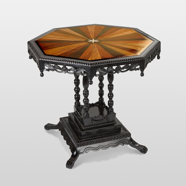 A Stunning Anglo Indian Ebony Table for Special Occasions Featuring in The Elegant Design, Saffronart, 25-26 March 2014