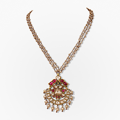A gemset necklace