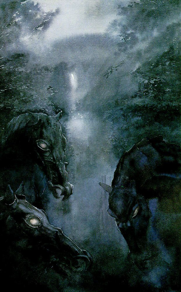 "The steeds of the Black Riders  Recto, p.192, ""A Knife in the Dark"", The Fellowship of the Ring"